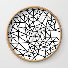 Segment Dense Black on White Wall Clock