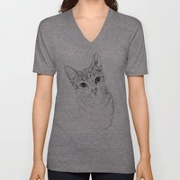 A Sketch :: Cat Eyes Unisex V-Neck