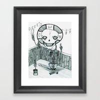 an asphodel Framed Art Print