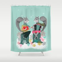 Squirrels' Christmas By … Shower Curtain
