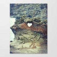 Corazón De La Playa Canvas Print