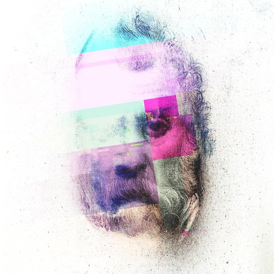 Glitch-face Art Print