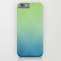 Diamonds (GreenFlashSnorkelBlue Fade) iPhone 6 Slim Case