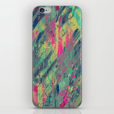 Colour Relaxation - Abstract, textured oil painting iPhone & iPod Skin