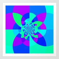 Orchid Aqua Turquoise Ka… Art Print