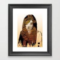 Native girl Framed Art Print