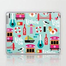 Lisbon - Lisboa Portugal travel icons souvenir illustration print Laptop & iPad Skin