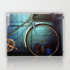 Bluebell the blue bicycle Laptop & iPad Skin