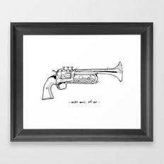 Make music, not war. Framed Art Print