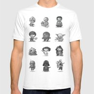 Star Kids Wars Mens Fitted Tee White SMALL
