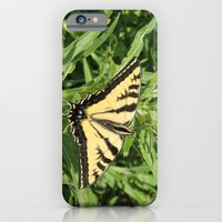 iPhone Cases featuring Swallowtail at Rest on Greenery by Ralph S. Carlson