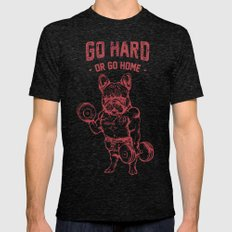 GO HARD OR GO HOME FRENC… Mens Fitted Tee Tri-Black SMALL