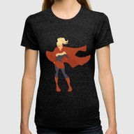 Captain Marvel Womens Fitted Tee Tri-Black SMALL