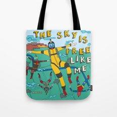 Skydive In The Sky Tote Bag