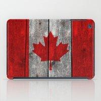 Canada Flag On Heavily T… iPad Case