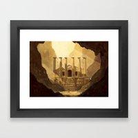 Ancient Ruins Framed Art Print