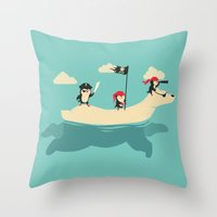 The Scourge of the Arctic Throw Pillow