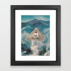 Flotar Entre Las Nubes  Framed Art Print