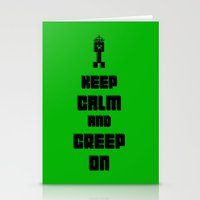 Keep Calm and Creep On Stationery Cards