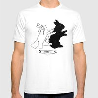 Hand-shadows Mr Rabbit Mens Fitted Tee White SMALL