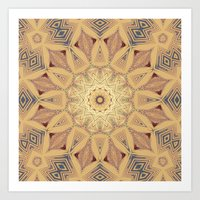 Native Sun Ochre Art Print