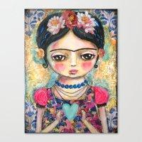 The Heart Of Frida Kahlo… Canvas Print