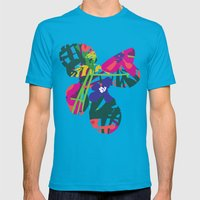 Lanai Mens Fitted Tee Teal SMALL