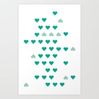 bleating hearts Art Print