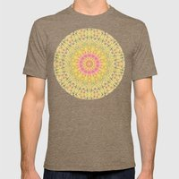 Meadow A Maise Mandala Mens Fitted Tee Tri-Coffee SMALL