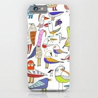 Birds. bird, pattern, animals, kids, art, design, illustration,  iPhone 6 Slim Case