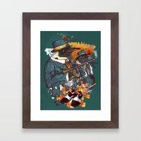 Mobster Puzzle Framed Art Print