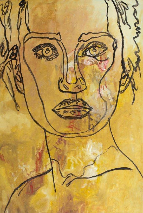 Yellow Woman Art Print