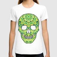 sugar skull T-shirts featuring Sugar skull by Julia Badeeva