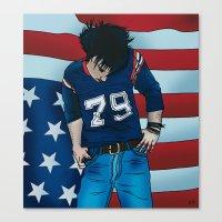 Ryan Adams - Gold Canvas Print