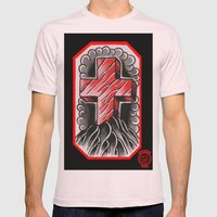 cross of ages Mens Fitted Tee Light Pink SMALL