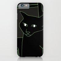 Neon Black Cat Shoulder … iPhone 6 Slim Case