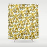 Calendula Florals Shower Curtain