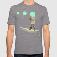 he believes he can fly Mens Fitted Tee Tri-Grey SMALL