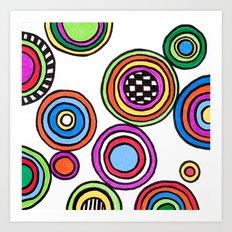 funky circles Art Print