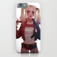 iPhone Cases featuring Harley Quinn by punziella