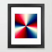 Red, White & Blue Framed Art Print