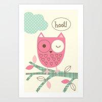 Hooty Owl Art Print