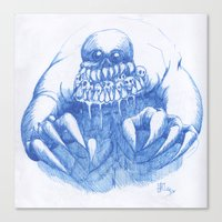 Mad Horror  Canvas Print