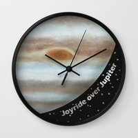 Joyride Over Jupiter Wall Clock