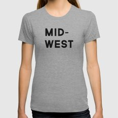 MID-WEST Womens Fitted Tee Athletic Grey SMALL
