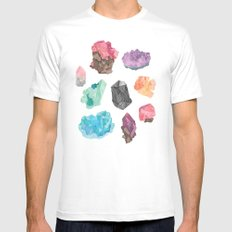 Raw Gems Mens Fitted Tee White SMALL