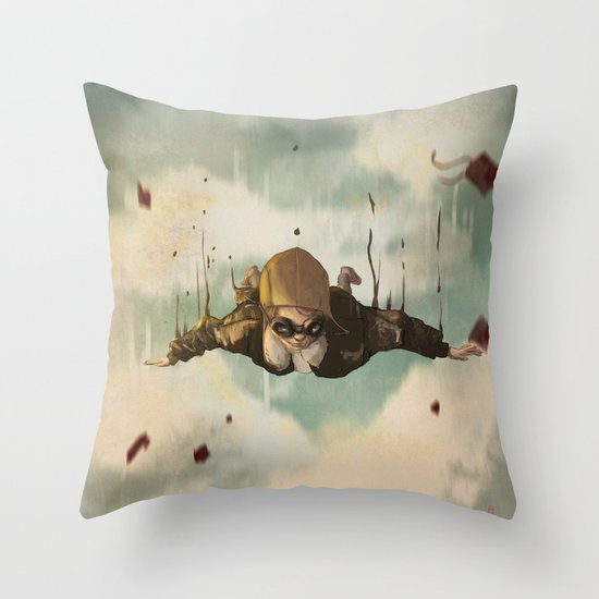 -Plane  crasH- Throw Pillow