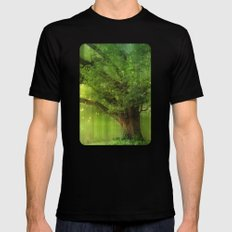 Family Tree Black Mens Fitted Tee SMALL
