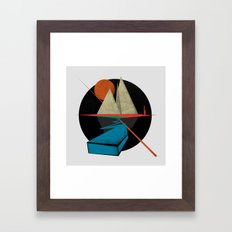 Mountain & Stars Framed Art Print