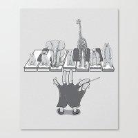 Piano Recital Canvas Print